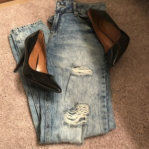 Pants - Distressed jeans